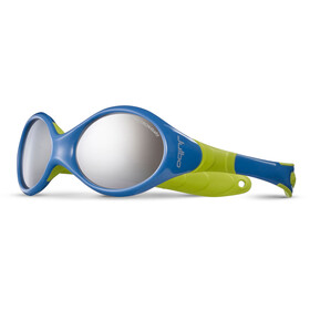 Julbo Looping II Spectron 4 Sunglasses Baby 12-24M Blue/Lime Green-Gray Flash Silver